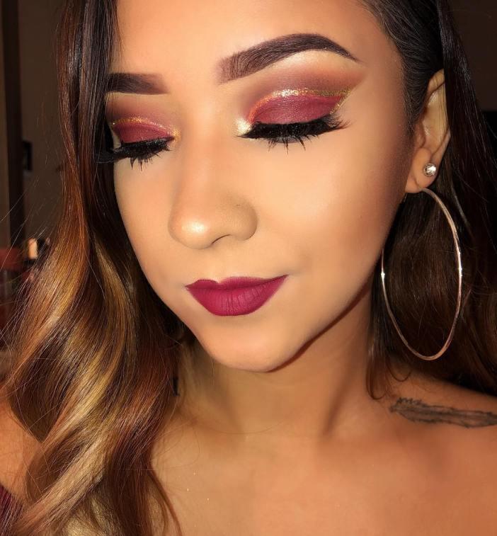 40 Burgundy Makeup Look Ideas 33