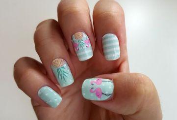 40 Cute Flamingo Themed Nail Art Ideas 18