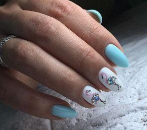 40 Cute Flamingo Themed Nail Art Ideas 21