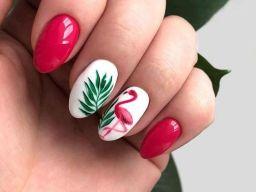 40 Cute Flamingo Themed Nail Art Ideas 29