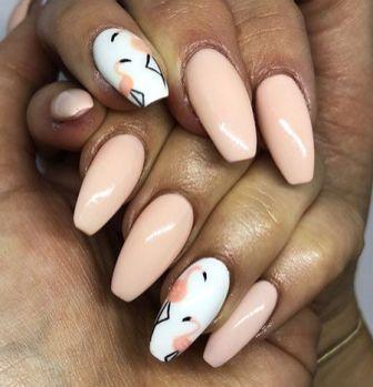 40 Cute Flamingo Themed Nail Art Ideas 3