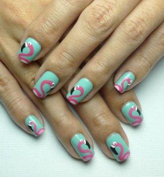 40 Cute Flamingo Themed Nail Art Ideas 35