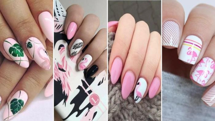 40 Cute Flamingo Themed Nail Art Ideas