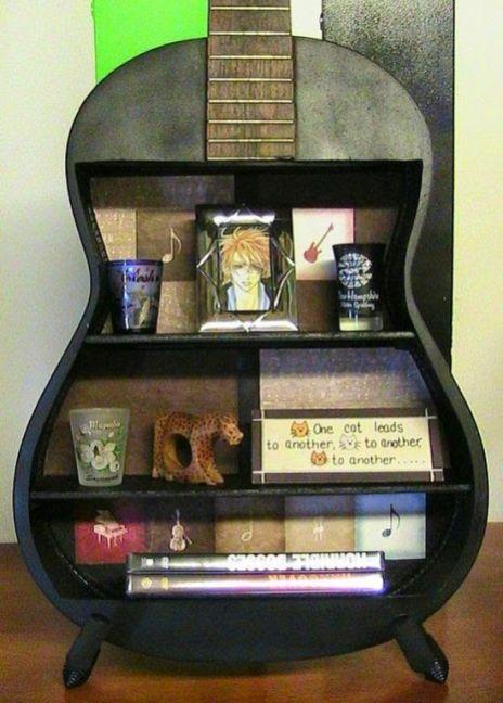 40 DIY Repurpose Old Guitars Ideas 12