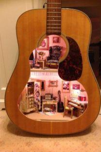 40 DIY Repurpose Old Guitars Ideas 25