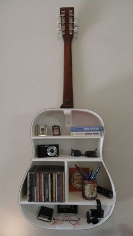 40 DIY Repurpose Old Guitars Ideas 26
