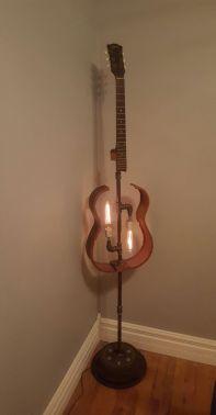 40 DIY Repurpose Old Guitars Ideas 35