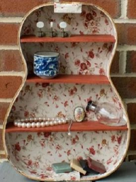 40 DIY Repurpose Old Guitars Ideas 6