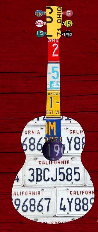 40 DIY Repurpose Old Guitars Ideas 9