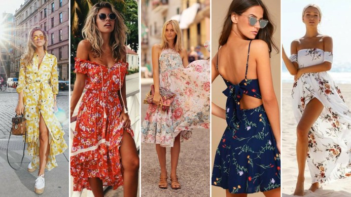 40 Fashionable Floral Print Dresses for Summer Ideas