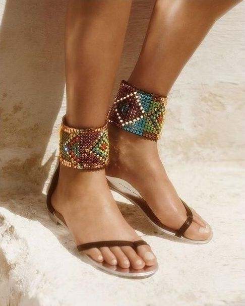 40 Glam Flat Sandals for Summer Ideas 38