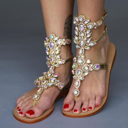 40 Glam Flat Sandals for Summer Ideas 47