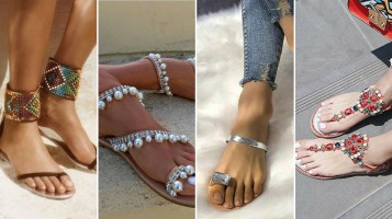40 Glam Flat Sandals for Summer Ideas