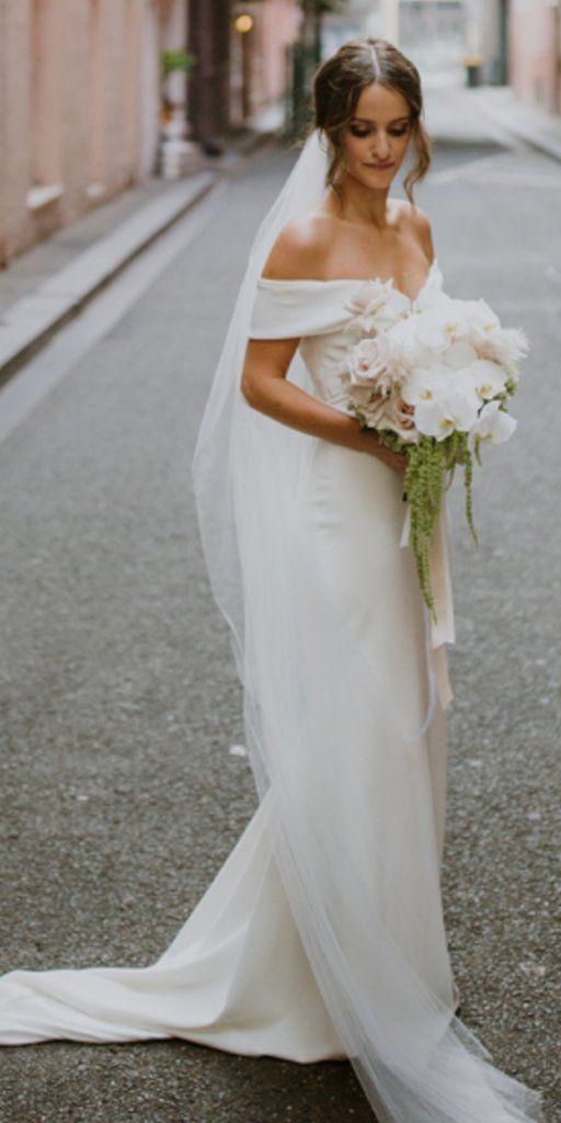 40 Off the Shoulder Wedding Dresses Ideas 1