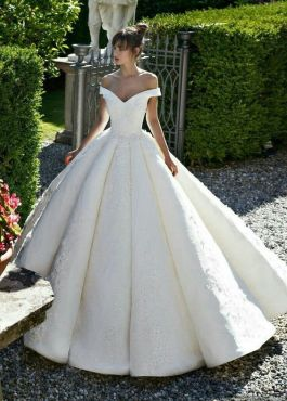40 Off the Shoulder Wedding Dresses Ideas 12