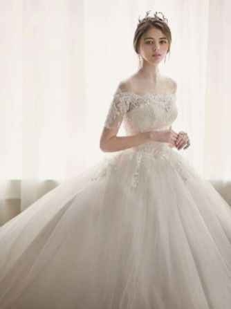 40 Off the Shoulder Wedding Dresses Ideas 13