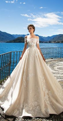 40 Off the Shoulder Wedding Dresses Ideas 20