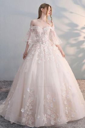 40 Off the Shoulder Wedding Dresses Ideas 23