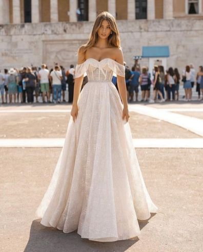 40 Off the Shoulder Wedding Dresses Ideas 24