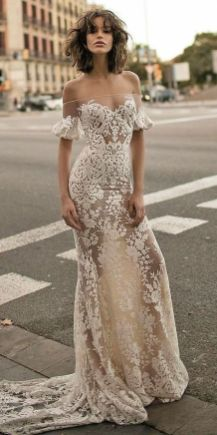 40 Off the Shoulder Wedding Dresses Ideas 34