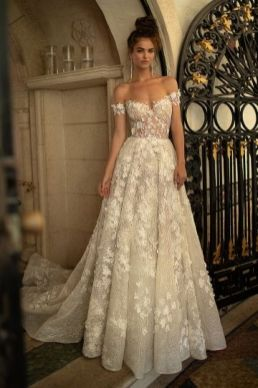 40 Off the Shoulder Wedding Dresses Ideas 35