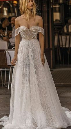 40 Off the Shoulder Wedding Dresses Ideas 4