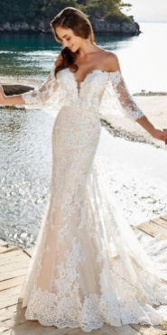 40 Off the Shoulder Wedding Dresses Ideas 41