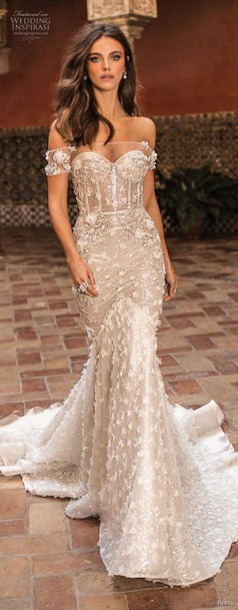 40 Off the Shoulder Wedding Dresses Ideas 45