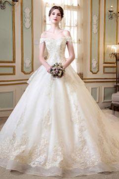 40 Off the Shoulder Wedding Dresses Ideas 47