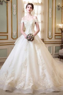40 Off the Shoulder Wedding Dresses Ideas 47
