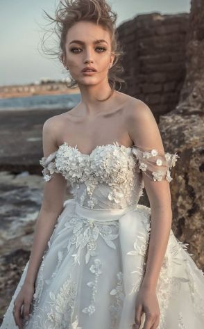 40 Off the Shoulder Wedding Dresses Ideas 7