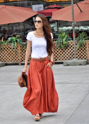 40 Stylish Orange Outfits Ideas 33
