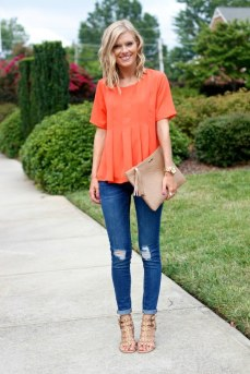 40 Stylish Orange Outfits Ideas 37