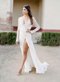 50 Bridal Dresses with Perfect Split Ideas 19