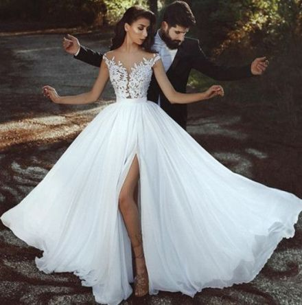 50 Bridal Dresses with Perfect Split Ideas 24 1