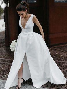 50 Bridal Dresses with Perfect Split Ideas 26 1