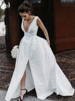 50 Bridal Dresses with Perfect Split Ideas 26