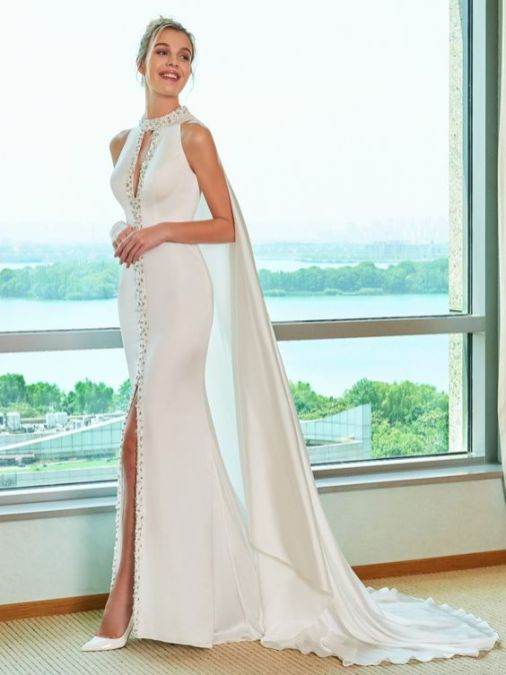 50 Bridal Dresses with Perfect Split Ideas 27