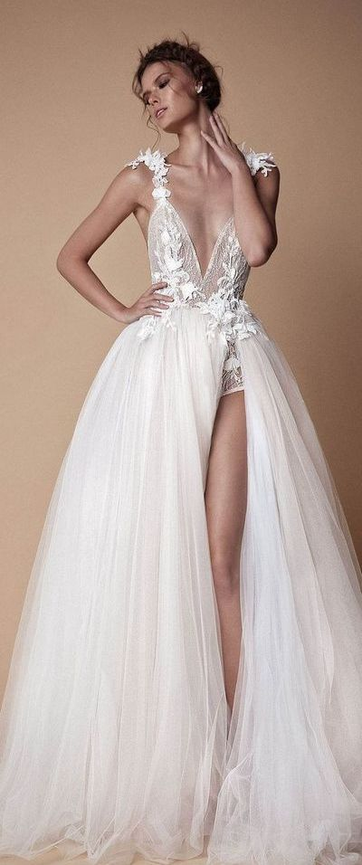 50 Bridal Dresses with Perfect Split Ideas 29 1