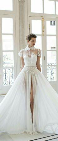 50 Bridal Dresses with Perfect Split Ideas 32