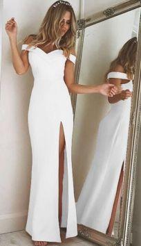 50 Bridal Dresses with Perfect Split Ideas 35