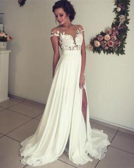 50 Bridal Dresses with Perfect Split Ideas 36