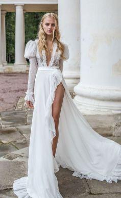 50 Bridal Dresses with Perfect Split Ideas 39