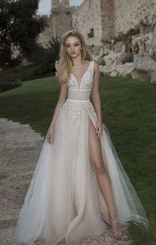 50 Bridal Dresses with Perfect Split Ideas 41 1