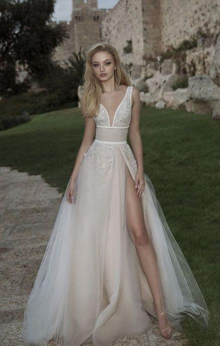 50 Bridal Dresses with Perfect Split Ideas 41 2