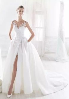 50 Bridal Dresses with Perfect Split Ideas 43