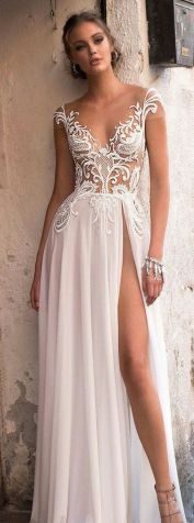 50 Bridal Dresses with Perfect Split Ideas 47 1