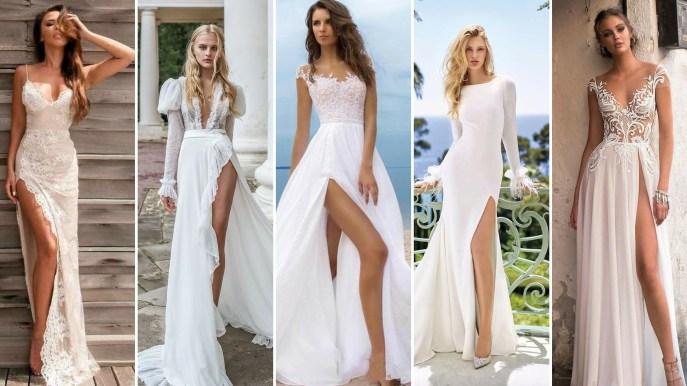 50 Bridal Dresses with Perfect Split Ideas