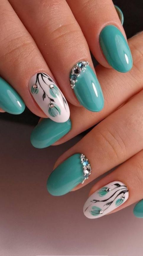 50 Floral Nail Art for Summer and Spring Ideas 1