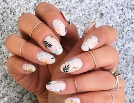 50 Floral Nail Art for Summer and Spring Ideas 11
